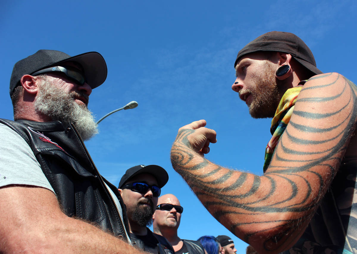 Soldiers Of Odin Confront Supporters Of Bc Tent City Sooke News