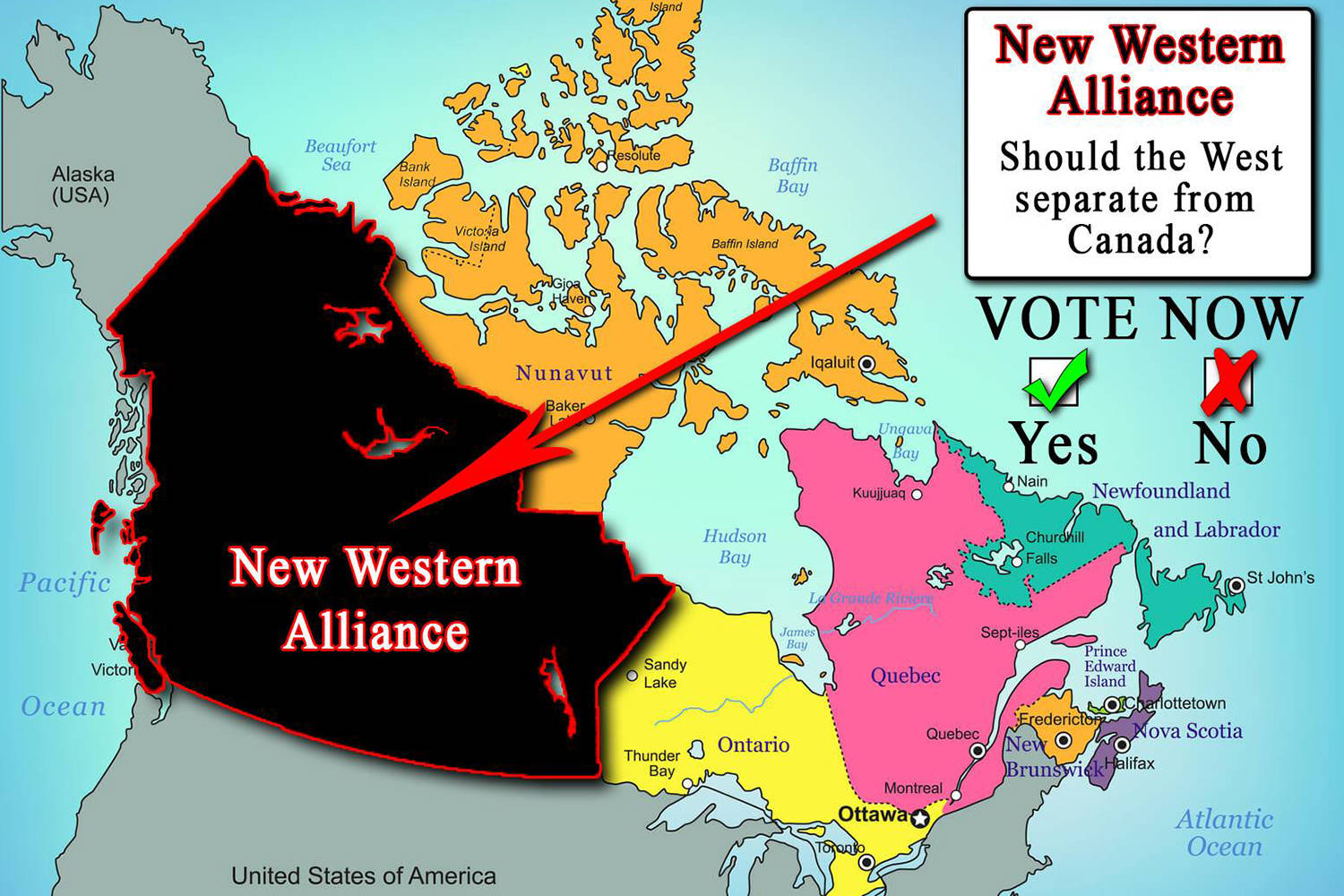 Map Of Western Canada Provinces.Should Canada S Western Provinces Split From The East Sooke News