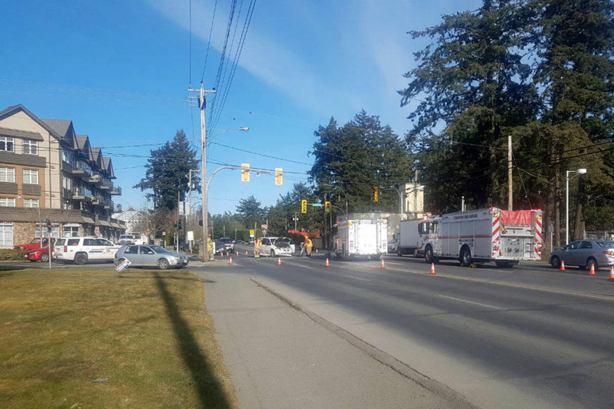 fd046281681 Two crashes in two days  Colwood intersection city s sixth most dangerous.  Sooke and Kelly Road ...