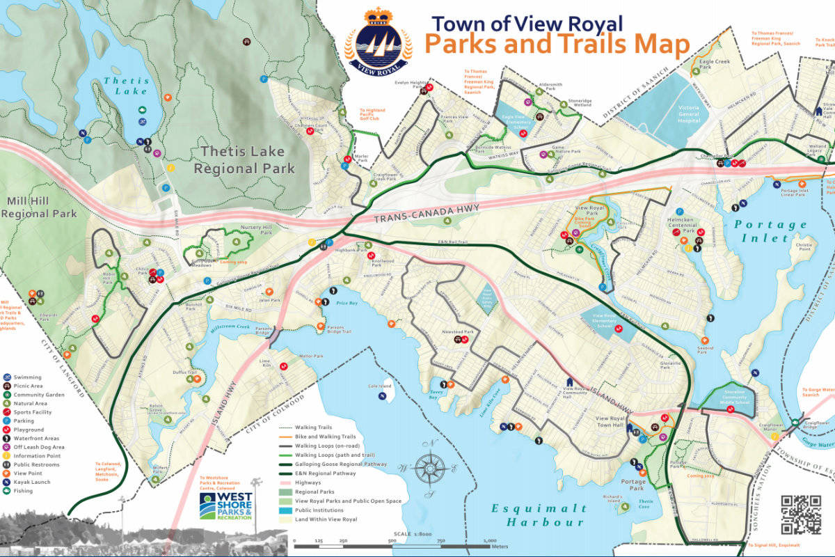 Updated View Royal parks map shows new trails and play areas – Sooke on