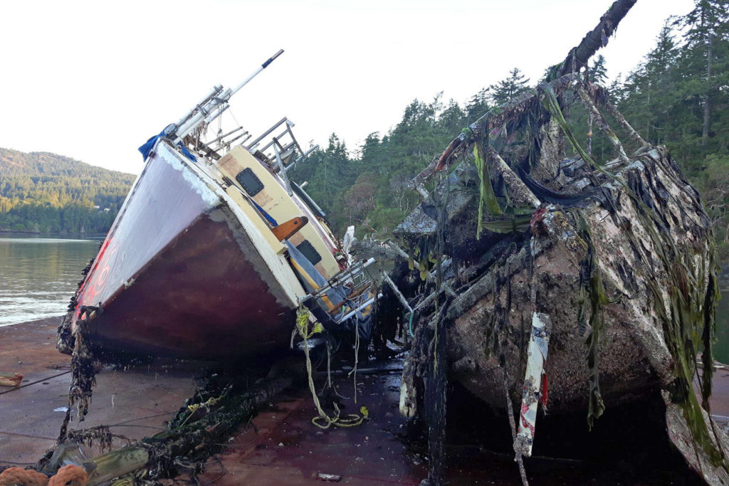 Group continues to pull sunken, abandoned wrecks from Salish Sea - Sooke News Mirror
