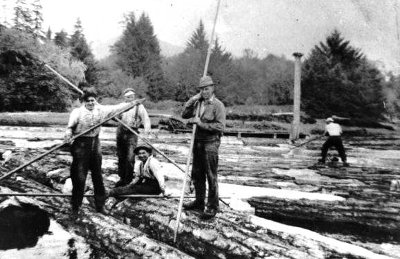 SOOKE HISTORY: Log booming on the San Juan River - Sooke News Mirror